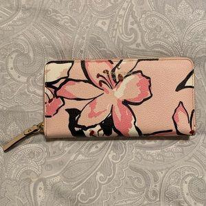 kate spade Hawthorne Lane Pink Tiger Lily Wallet